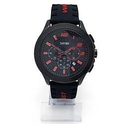 Часы Спортивные на силиконовом ремешке, длина ремешка 16-23,5см, циферблат 48мм