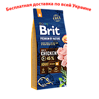 Brit premium Dog Adult M Брит премиум для взрослых собак М средних пород 15кг