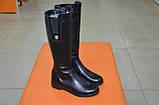 Сапоги женские кожаные черные Karmen 133027. Женская обувь, фото 2