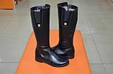 Сапоги женские кожаные черные Karmen 133027. Женская обувь, фото 3