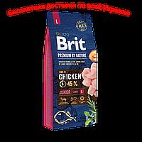 Brit premium Dog Junior L  Брит премиум джуниор Л для щенков крупных пород собак 15кг