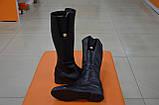 Сапоги женские кожаные черные Karmen 133027. Женская обувь, фото 4