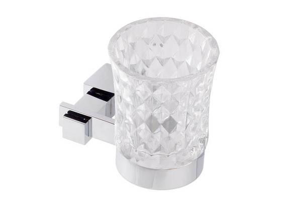 Стакан для зубных щеток KUGU С5 506 (латунь, хром, стекло)(Бесплатная доставка  ), фото 2