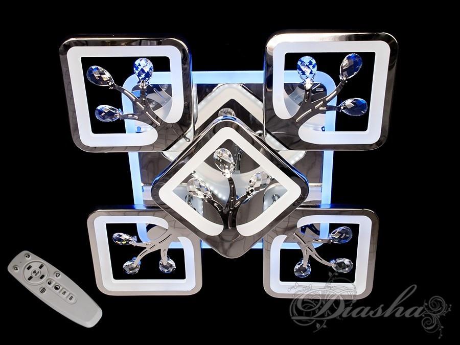 Потолочная люстра с диммером и LED подсветкой S8157/4+1HR LED 3color dimmer