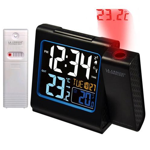 Проекционные часы La Crosse WT551-Black с датчиком температуры