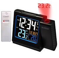 Проекционные часы La Crosse WT552-Black с выносным датчиком, фото 1