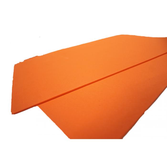 Фоамиран 2мм, 20х30 см, оранжевый