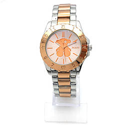 Часы с Мишкой на браслете под серебро, циферблат 42мм, ремешок д-6 см