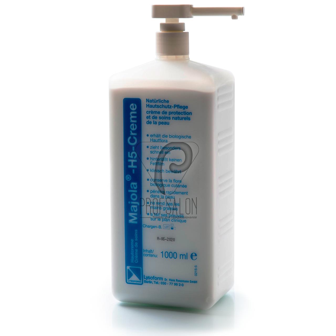 Крем Майола-Х5 (Majola H5-Creme), 1000 мл,медицинский профессиональный антибактериальный крем