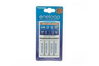 Зарядний пристрій Panasonic Smart-Quick Charger + Eneloop AA/HR06 NI-MH 1900 mAh BL 4 шт