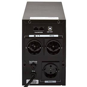 ИБП LogicPower LPM-UL1100VA, Lin.int., AVR, 3 x евро, USB, металл, фото 3