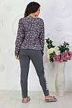Трикотажный костюм женский Двунитка Размер 48 50 52 54 56 В наличии 2 цвета, фото 4