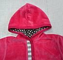 Детская велюровая кофта с капюшоном Божья Коровка (р. 86-104 см) (Nicol, Польша), фото 4