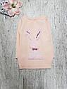 Детская теплая туника Зая для девочки на 3-7 лет, фото 6