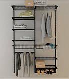 Стойка 1000мм перфорированная черного цвета в гардеробной системе хранения Украине, фото 4