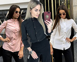 Стильная женская блуза с регулируемыми рукавами /разные цвета, 42-46, ft-1041/