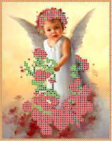 Набор для вышивания бисером «Ангелок с розочками»