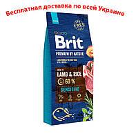 Brit premium Dog Sensitive Lamb Брит премиум сенситив ягненок для собак всех пород и размеров 15кг