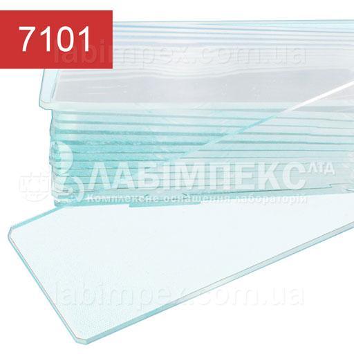 Стекло предметное для микроскопа шлифованные 25х76 мм, толщина 1-1.2 мм (ISO 9001:2000)