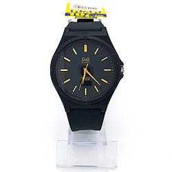 Часы на черном силиконовом ремешке, р.16-22,5см, циферблат 40мм