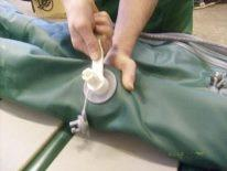Повна заміна клапана на надувному човні ПВХ своїми руками