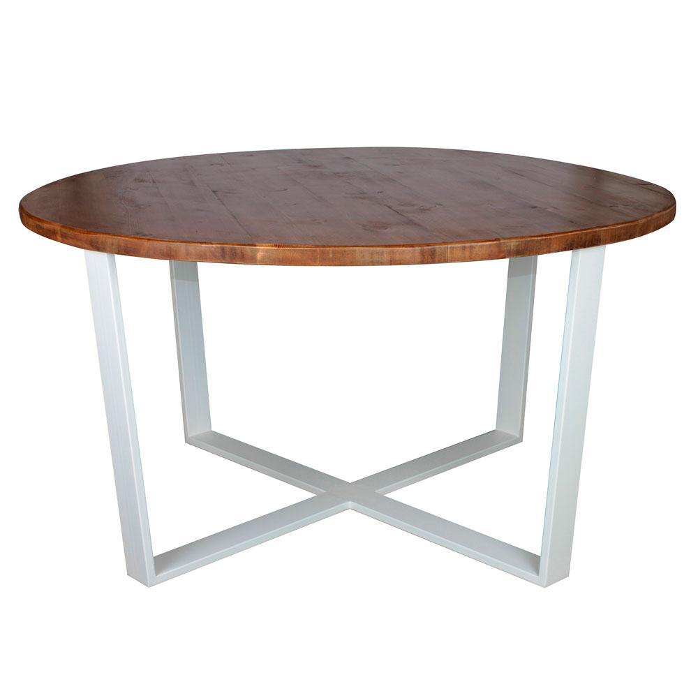 """Деревянный круглый столик """"Лестер"""" из чистого дерева в стиле loft"""
