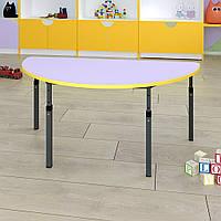Стол детский полукруглый регулируемый по высоте 20×20 в 25×25, фото 1
