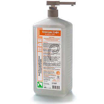 Жидкое мыло Бланидас Софт 1л, профессиональное, без запаха, с умеренным уровнем РН