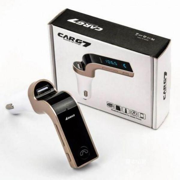 FM-трансмиттер Bluetooth Toto CAR G7 Черный