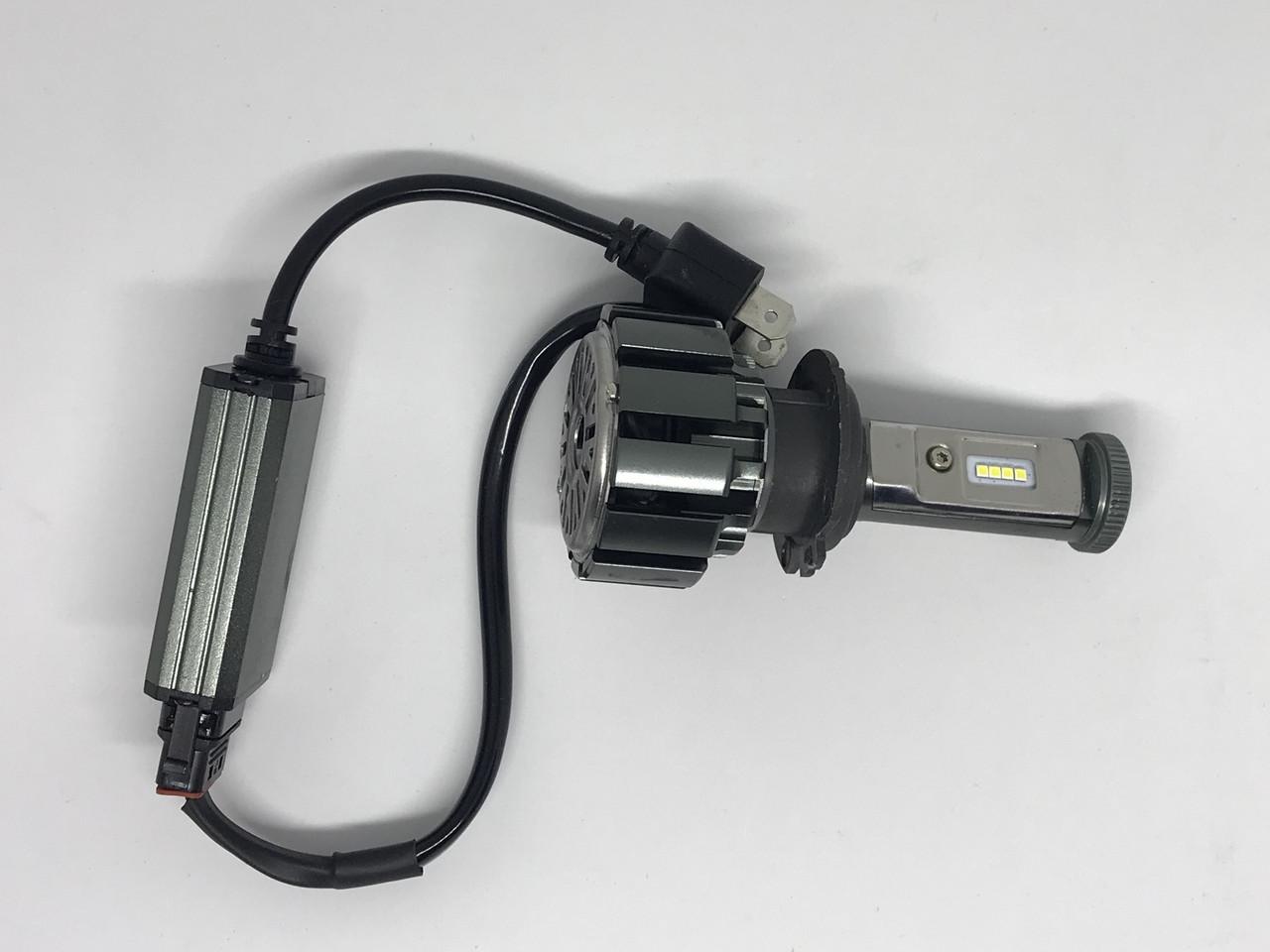 Комплект автомобильных ламп TurboLed T6 H4 6000K/8000 Лм с кулером (FL-159