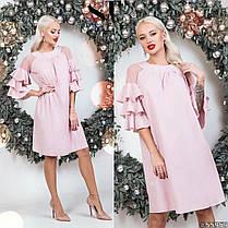 Платье рюши в расцветках 48351, фото 2
