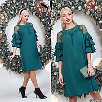 Платье рюши в расцветках 48351, фото 3