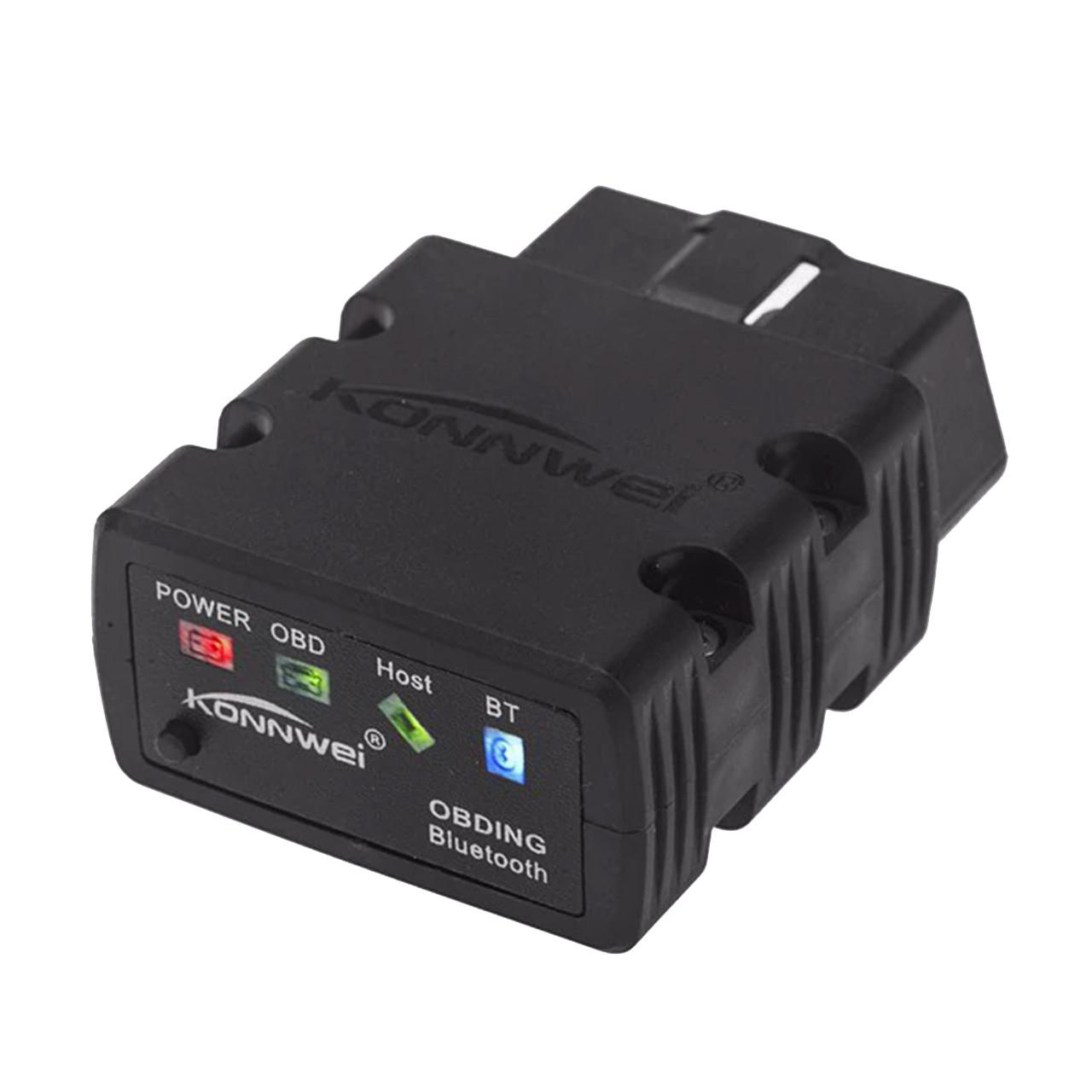 Сканер-адаптер KONNWEI KW902 для диагностики автомобиля OBDII Bluetooth 3.0 Черный (2793-8575а)