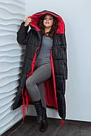 Зимнее женское пальто-одеяло