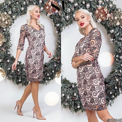Сукня з блискітками в кольорах 48353, фото 2