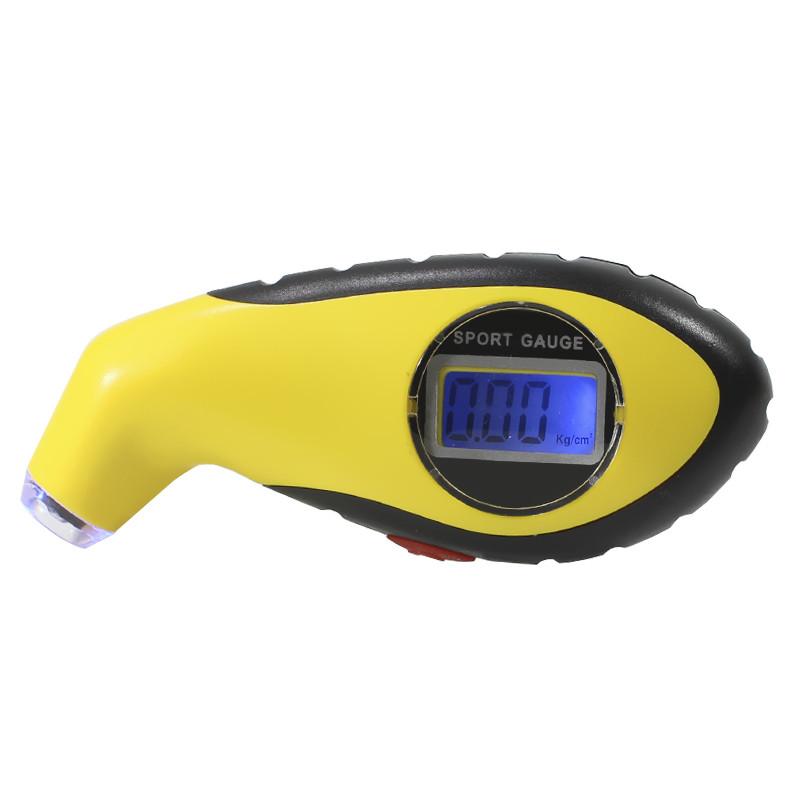 Манометр цифровой Lesko LED Желтый (2604-7304а)