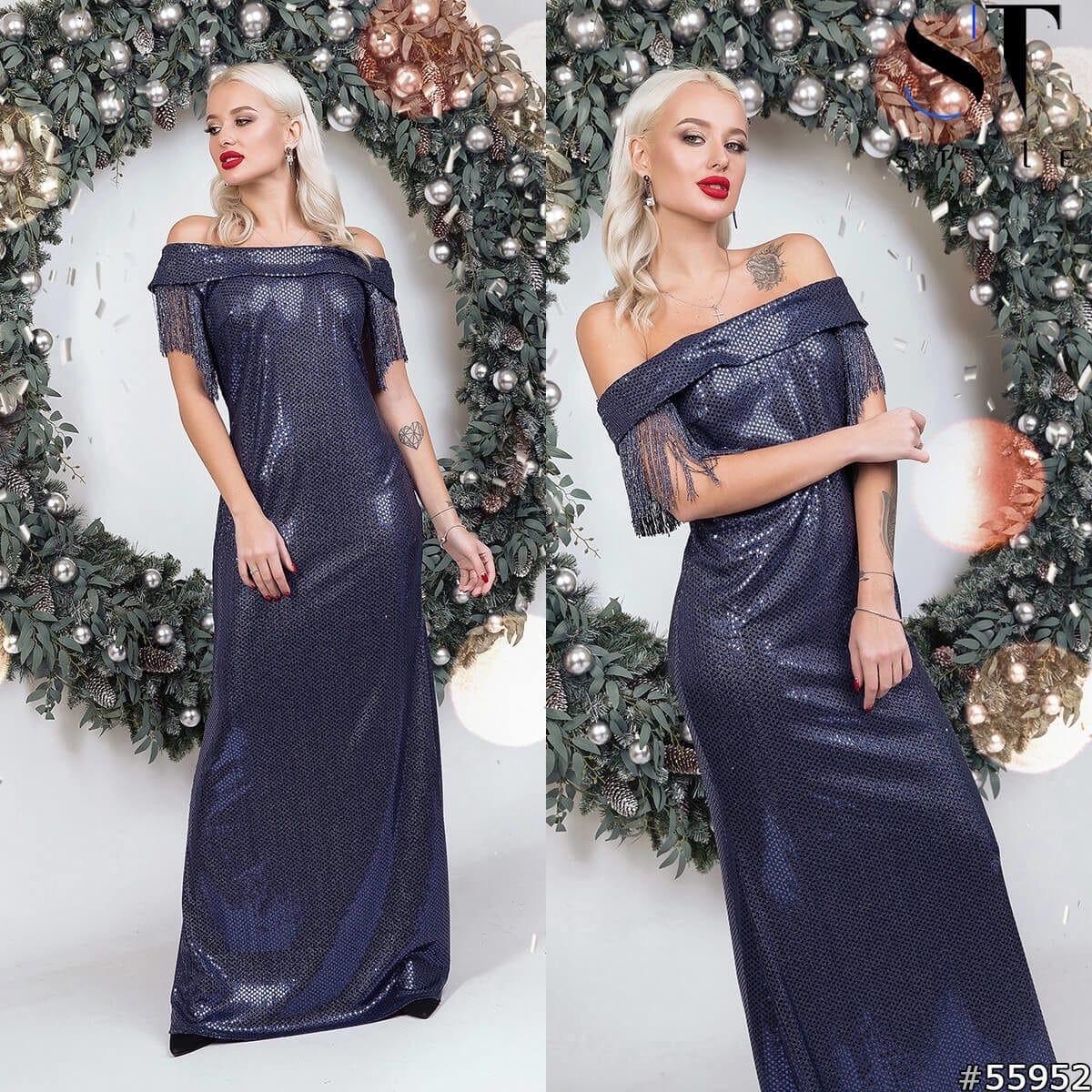 Платье в пол пайетки в расцветках 48425