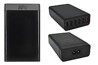 Сетевое зарядное устройство KFD Qualcomm Quick Charge 2.0, 6 портов USB, 60W (U60-QC)