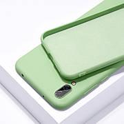 Силиконовый чехол SLIM на Samsung A70 Mint