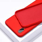 Силиконовый чехол SLIM на Samsung A70 Red
