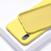 Силиконовый чехол SLIM на Samsung A70 Yellow