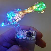 Светодиодная нить SoFun на батарейках разноцветная 3м