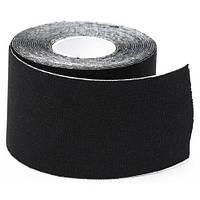 Кинезио тейп спортивный Sports Therapy Kinesiology Tape, 5 см х 5 м (черный), фото 1