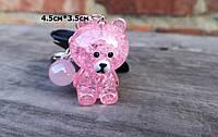 Брелок для ключей,сумочки,рюкзака розовый мишка (пластиковый)