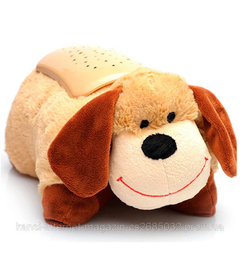 Нічник подушка Зоряна Собака, світильник собака зоряне небо