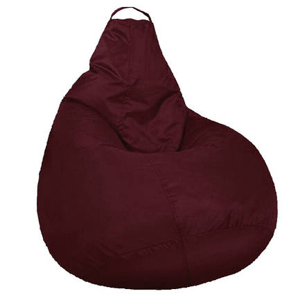 Кресло мешок SOFTLAND Груша для детей M 90х70 см Бордовый (SFLD7), фото 2