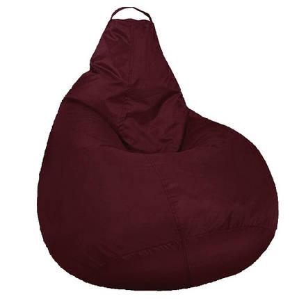 Кресло мешок SOFTLAND Груша стандартный взрослый XL 120х90 см Бордовый (SFLD35), фото 2
