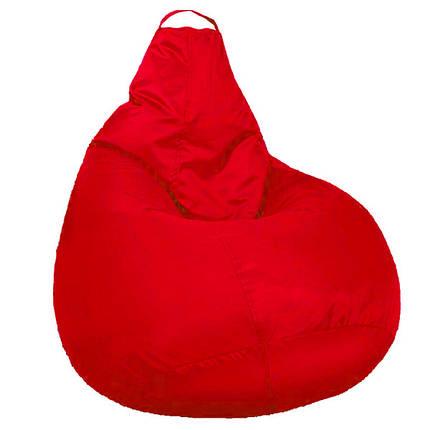 Кресло мешок SOFTLAND Груша стандартный взрослый XL 120х90 см Красный (SFLD36), фото 2