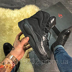 Мужские кроссовки  Yohji Yamamoto Y-3 Kaiwa Full Black (черные)