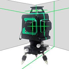 KETOTEK 💠 12 линий 360 градусов ❎ ЗЕЛЕНЫЙ ЛУЧ ➜ до 50м ✅ лазерный уровень нивелир + БАТАРЕЯ 2000mAh